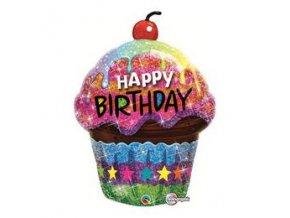 Fóliový balón Happy Birthday 89cm