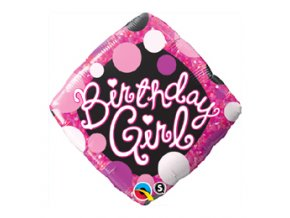 Fóliový balón Birthday girl