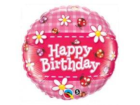 Fóliový balón Happy Birthday Lienka