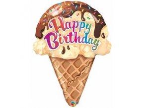 Fóliový balón Happy Birthday ice cream