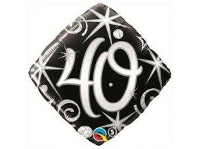 Fóliový balón s číslom 40