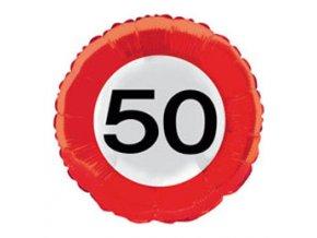 """Fóliovy balón s číslom """"50"""""""