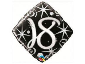 Fóliový balón s číslom 18