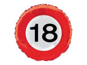 "Fóliový balón s číslom""18"""
