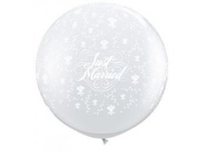 Jumbo balón latexový biely 0,95m