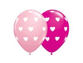 Latexový balón bledo/tmavo ružový 5ks v balení