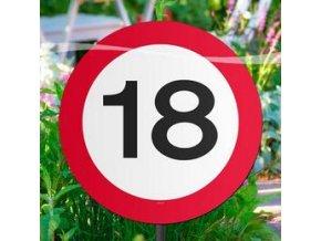 """Tabuľka  s číslom """"18"""""""