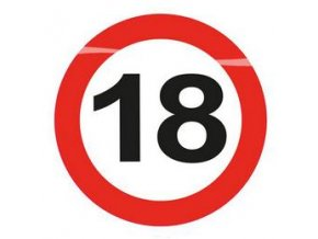 Blikajúci LED odznak-rámik číslo ,,18,, 12cm