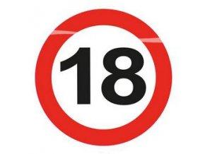 """Podložka pod pohár s číslom """"18"""" LED"""