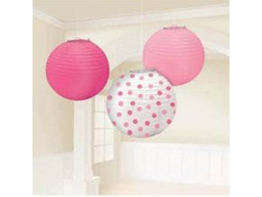 Lampióny baby dots pink
