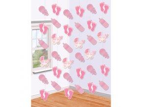 Závesná dekorácia baby pink
