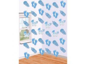 Závesná dekorácia baby blue