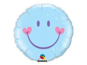 Fóliový balón Úsmev blue