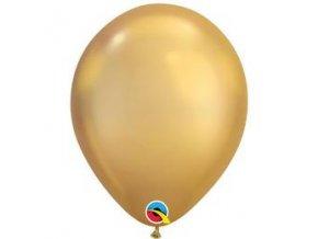 11 inch es chrome gold arany kerek lufi q58271