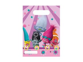 eng pm Trolls Plastic Party Loot Bags 6 pcs 22984 1