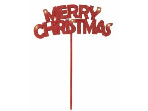 Dekorácia na paličke MERRY CHRISTMAS