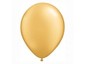 """Latexový balón 16"""" metalický zlatý 6ks v balení"""