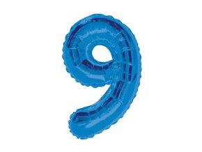 pol pm Balon foliowy cyfra dziewiec 9 niebieska 86 cm 1 szt 21059 2