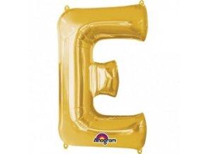 pol pm Balon foliowy litera E zlota 20 x 33 cm 21352 1