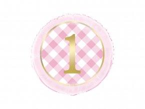 eng pl Birthday Girl Foil Balloon round 46 cm 1 pc 55234 2