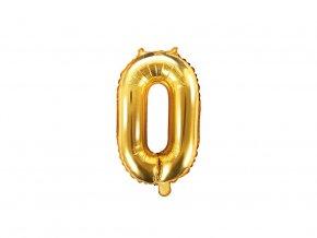 eng pl Mini Shape Number 0 Gold Foil Balloon 35 cm 1 pc 34268 1