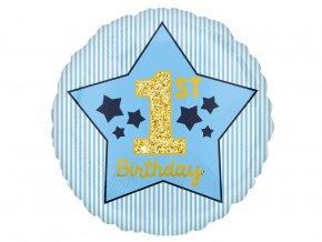eng pl Birthday Boy Foil Balloon round 45 cm 1 pc 40250 2