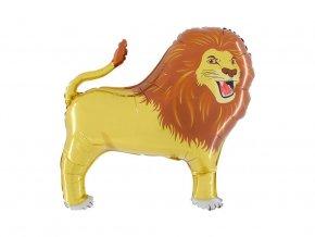 eng pl Foil Balloon Lion 85 x 79 cm 45106 1