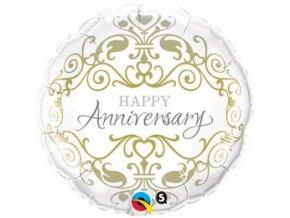 18 inch es happy anniversary eskuvoi folia lufi q36491