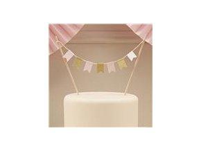 Ozdoba na tortu pastel pink & gold