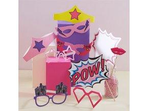 Pink Pop Art Party Photobooth Props PROP185