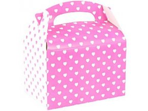 pink and white hearts party box BOXP026 v2