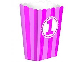 Girls 1st Birthday Popcorn Box 1STAGPOP