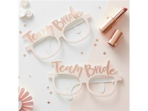 Team Bride Rose Gold Foiled Glasses HENP076 v1 a1