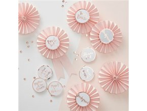 Rose Gold Foiled Badges Kit HENP074 v1 a1