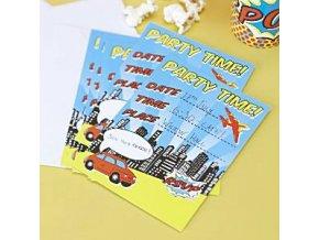 pop art superhero invitation cards POPAINVI