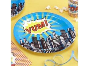 pop art superhero plates POPAPLAT ps13
