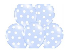 eng pm Balloons 14 Pastel Sky Blue Dots 5 pcs 13136 1