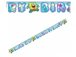 Banner Happy Birthday Spongebob 180cm