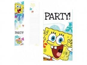Pozvánky Spongebob 6ks v balení