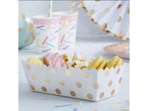 Pick Mix Metallic Polka Dot Food Trays PMIXTRAY