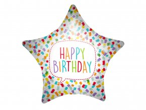 eng pl Happy Birthday Bright Star Foil Balloon 46 cm 1 pc 52999 1