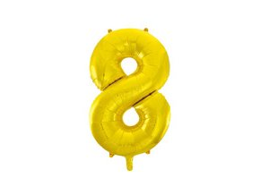 eng pm Number 8 Gold Foil Balloon 86 cm 1 pc 21674 1
