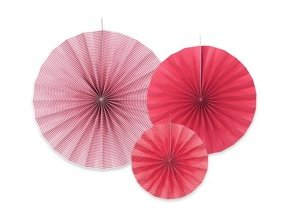 eng pm Decorative rosettes raspberry 3 pcs 20903 1