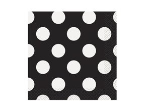 eng pm Black dots lunch napkins 25 cm 16 pcs 25270 2