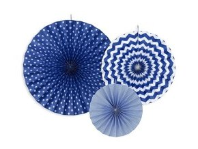 eng pm Decorative Rosettes navy blue 3 pcs 20904 1