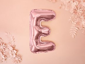 eng pl Letter E Rose Gold Foil Balloon 35 cm 1 pc 34463 5