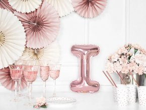 eng pl Letter I Rose Gold Foil Balloon 35 cm 1 pc 34459 2