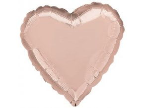 rose gold heart balloon FOIL2697 v1
