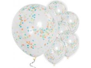 multi coloured confetti balloons BALL1770 v1
