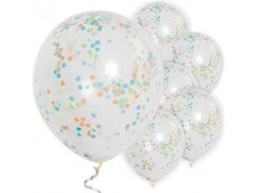 multi coloured confetti balloons BALL1770 v1